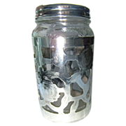 Sterling Silver Jar Vintage Nestle Jar Sterling Silver Overlay