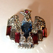 Crown Trifari Alfred Philippe Eagle Pin Patent Pending