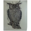 Owl Vintage Limited Edition Woodcut Print Award Winning Artist