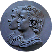 Theobald Stein (1829-1901) Danish Large Commemorative Plaque
