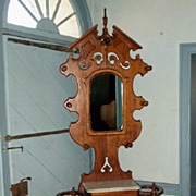 Antique Victorian Walnut Umbrella Stand.