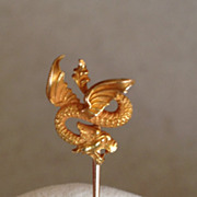 SOLD Antique 14k Griffin Stickpin