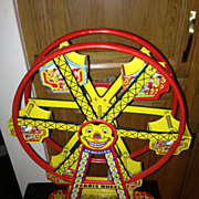 J. Chein Hercules Ferris Wheel vintage litho Wind Up toy