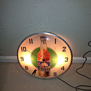 1958 vintage SunCrest soda advertising clock