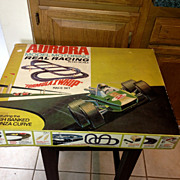 Vintage Aurora Model Motoring 1304 Slot Car Racing Set.