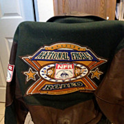 SALE Mens Wool & Leather National Finals Rodeo Las Vegas Jacket XS