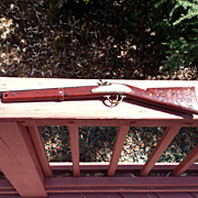Vintage CapGun Buffalo Rifle made by Hubley in the 1950's.