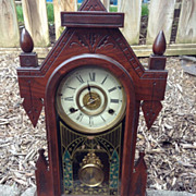 New Haven 8 Day Striking Alarm Mantel Clock