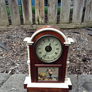 SETH THOMAS City Series mantel or shelf clock has a solid wooden case