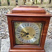 Howard Miller  clock co. dupont carriage / mantle / shelf wind-up clock with key