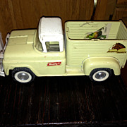 1960 Buddy L Ford  Pickup Horse Carrier Ranch Farm toy  as shown in pictures.  It ...