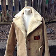 Vintage Swingster  Men's Coat Quaker State , Distressed Cowboy CoatWinter Camel  Large Winter
