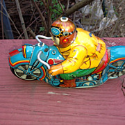 Tin Hadson Race Motorcycle  55 Made in Japan 1950's