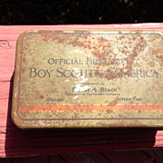 1926 Boy Scouts of America Official First Aid Kit tin