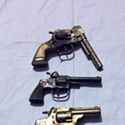 Five Vintage Cap Guns Roy Rogers Hubley's Yacht and Stevens