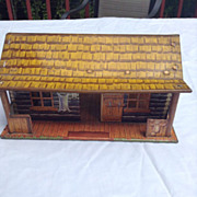 Marx Bar M Western Ranch 1950's Parts Tin Litho Bunkhouse Cabin