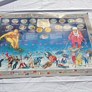 "Olympic Poster from the 1980 Winter Games in Lake Placid, NY.  Titled ""History of the ..."