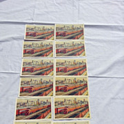 12 Never Used Pittsburgh Promotes Progress TRAINS RR Postcard