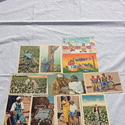 11 Postcards never used Black Americana Old Black Joe and more