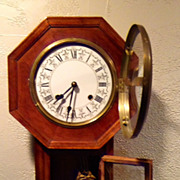 Vintage School House Regulator Key Wind  Clock