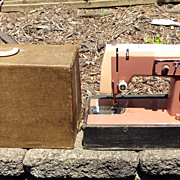 Vintage Kenmore Sewing Machine, Model 158.470 With Case , Pink