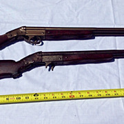 Vintage Two Daisy Double Barrel Pop Or  Cork Gun Mark Daisy Mfg. Co. Rogers Ark