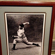 Bob Feller Cleveland Indians SIGNED 23x30 HOF Moment Photo