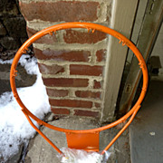 Old Skool Basketball Steel Rim with Net  Free Shipping
