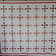 Exceptional Quilting! Antique 1860-1880s QUILT Civil War Era