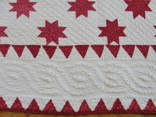 VintageBlessings: Antique Red White Stars QUILT Mid to Late 19th ... : red white quilt - Adamdwight.com