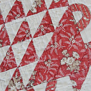 Antique c1840s Chintz Basket Quilt ~ Oh the fabrics!