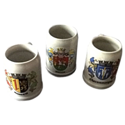 REDUCED Three German City Commemorative Beer Tankards