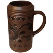 Unusal Gerz  German Stein / Tankard  Brown and Black