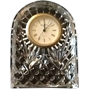 REDUCED Waterford Crystal Desk, Mantel or Side Table Clock  Signed