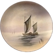 Nippon Hand Painted Plate Boats in the Water
