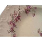 SALE    Antique Limoges Pansy Hand Painted Soup Bowls Four