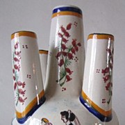 SOLD HB Henriot QUIMPER Pottery - 5 Finger Vase 482