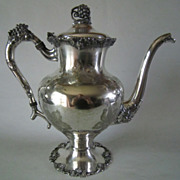 Barbour International Silver Co VINTAGE - Chased Grapes Pattern Coffee Pot 5304