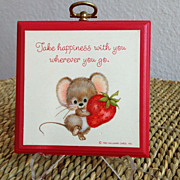 Vintage Hallmark Mouse Plaque Wall Decor
