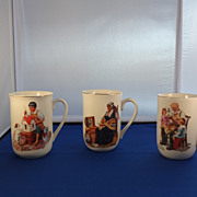 1982   Norman Rockwell Collectible Coffee Museum Mugs     1102