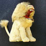 Vintage mechanical Lion toy