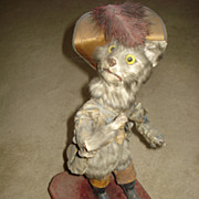 Antique French Puss and Boots musical automaton