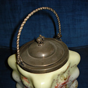 Antique M.T. Washington Wavecrest biscuit jar