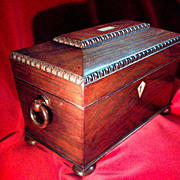 Regency Rosewood Tea Caddy
