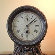 Seth Thomas Brass Key Wound Long Alarm Clock 1900s