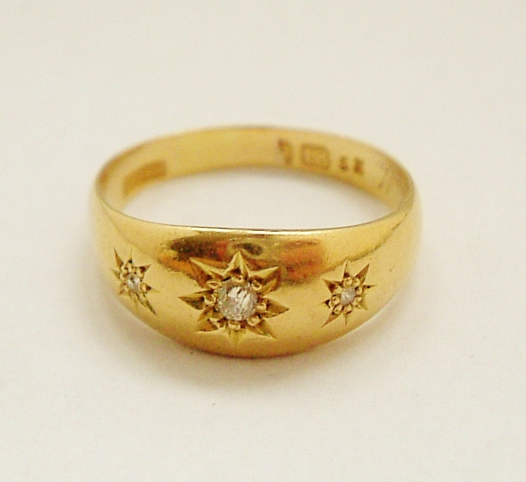 Simple Gold Rings For Women Edwardian English K Gold | in italy ...