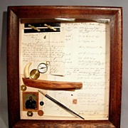 Antique Compass, Ship Documents, Photograph, Boston Massachusetts, 19th Century