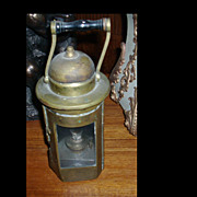 Rare Antique Solid Brass Ship's Binnacle Lantern Lamp c 1800's