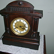 Antique Hamburg American German 14 Day Cabinet Shelf Clock c 1898 RARE