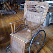 Early 1900s Wicker Wheelchair